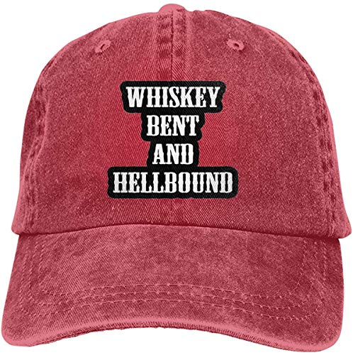 FTTUTY Whiskey Bent and Hellbound Baseball-Cap Twill Adjustable Dad-Hat