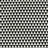 Dekostoff Dreiecke schwarz weiß