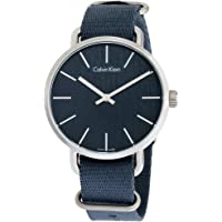 Calvin Klein Men's Even Blue Dial Nylon Strap Fabric Watch (Green)