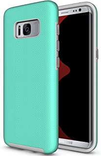 Galaxy S8 Non-Slip case, ACMBO Rugged Heavy Duty Armor Case Hybrid Dual Layer Hard PC + Soft Rubber Shockproof Dots-Antiskid Bumper Cover for Samsung Galaxy S8 5.8