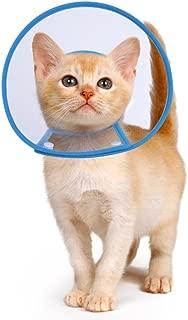 Collar con cono de gato PETBABA en recuperación, claro isabelino sin bloqueo de la visión, collarín suave acolchado para proteger el cuello, gatito adecuado cachorro perro mascota en cirugía Remedio aseo