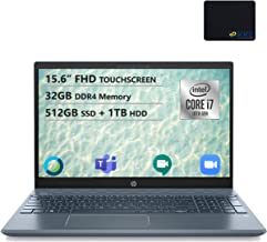 "HP Pavilion 15.6"" FHD Touchscreen Laptop, Intel i7-1065G7, 32GB RAM, 512GB SSD + 1TB HDD, GeForce MX250, B&O Play Audio, B..."