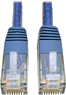 كابل توصيل مقولب جيجابت Cat6 Cat5e من شركة Tripp Lite RJ45 M/M 550MHz 1 ft. N200-001-BL