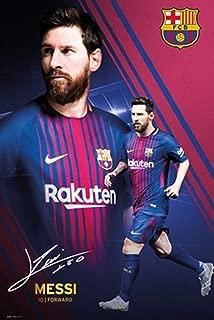 POSTER STOP ONLINE FC Barcelona - FCB - Sports/Soccer Poster/Print (Lionel Messi Montage - 2017/2018) (Size: 24