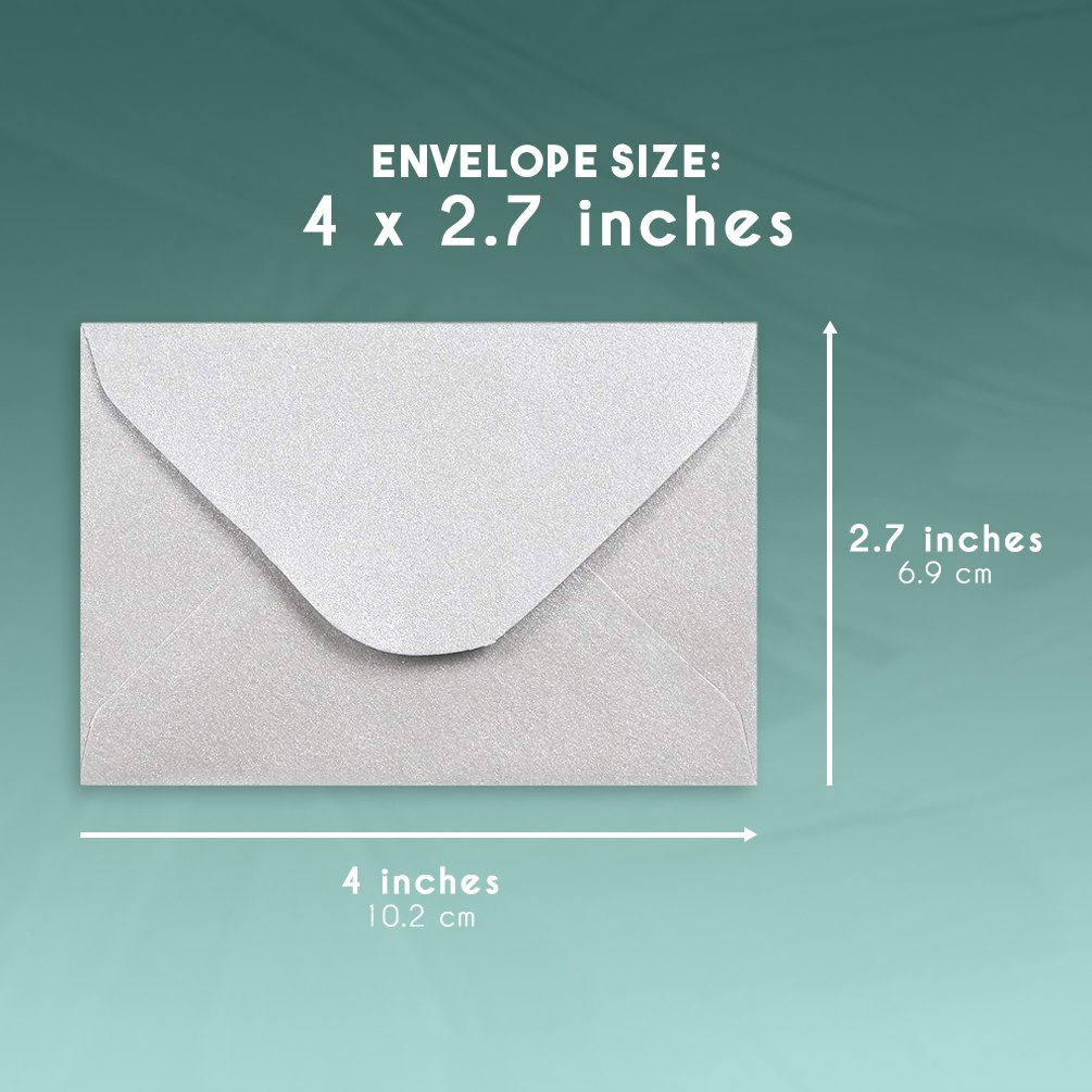 Assorted Color Business Card Envelopes 4 x 2.7 Inches 100-Count Bulk Gift Card Envelopes Bulk Tiny Envelope Pockets for Small Note Cards Juvale Mini Envelopes 10 Colors