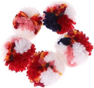 Best Design 5pcs Pet Cat Toys Colorful Plush Wool Ball Dog Puppy Kitten Chew, Wool Felt Balls - Milk Fiber Yarn, Red Felt Balls, Soft Wool Yarn, Baby Giggle Ball, Basketball Dog Toy, Cat Toy