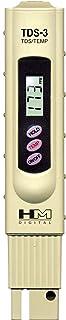 HM Digital TDS 3 Handheld TDS Meter mit Tragetasche, 0 9990 ppm TDS Messbereich, 1 ppm Auflösung, 2% Ablesegenauigkeit