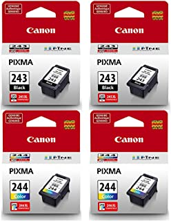 Canon PG-243 Black, CL-244 Color 4PK for PIXMA Printers (Non-Retail Packaging)