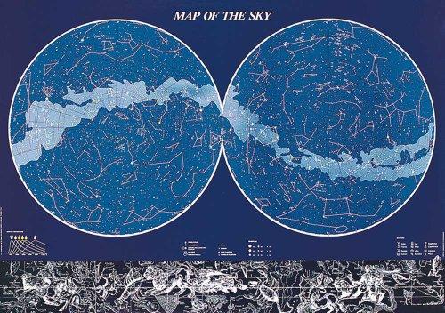 Empire Merchandising GmbH 536457 - Poster educativo con Mappa del Cielo boreale e australe, 98 x 68 cm