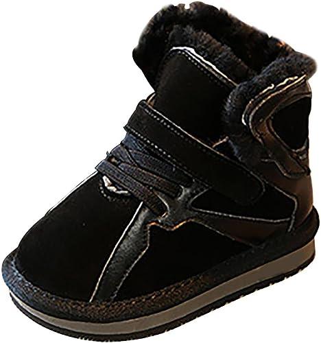 SYYAN Enfants Hiver Chaud Chaud cuir Frougeter Velcro MiNi Neige Bottes Loisir , noir , 22  nous fournissons le meilleur
