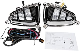 Fydun Daytime Running Lights(Left and Right) Car LED Daytime Running Light Turn Signal Fog Signal Lamp 1 Pair Fit for Kia K5 Optima 2016-2017