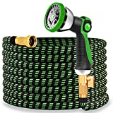 Best 25' Garden Hoses - Double Couple Garden Hose 25ft Expandable 10-Way Water Review