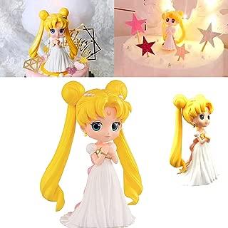 YSpring POP Anime Sailor Moon Decorative Ornaments Elegant Tsukino Usagi Princess Collectible Vinyl Action Figure Sculpture(Style B)