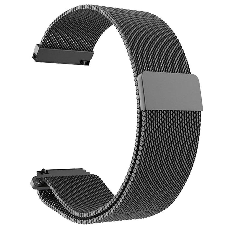 潜在的な敵対的明日Xiaomi Amazfit Bip Youth Watch用ステンレススチールブレスレットウォッチバンドストラップ(カラー:ブラック)