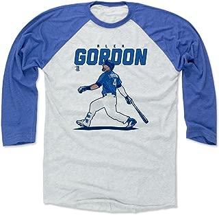500 LEVEL Alex Gordon Shirt - Kansas City Baseball Raglan Tee - Alex Gordon Score