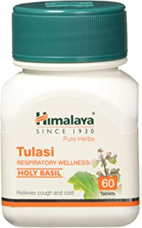 Himalaya Wellness Pure Herbs Tulasi Respiratory Wellness | Holy Basil |Relieves cough and cold| -Pack of 60 Tablets