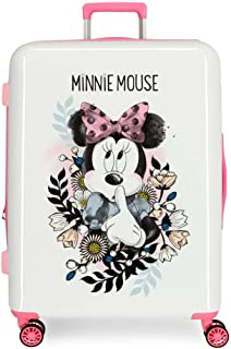 Disney Minnie Style Maleta Mediana Multicolor 48x70x26 cms Rígida ABS Cierre combinación 81L 4,2Kgs 4 Ruedas Dobles