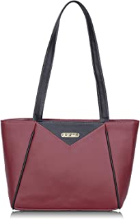 Fristo Maroon and Black women handbag