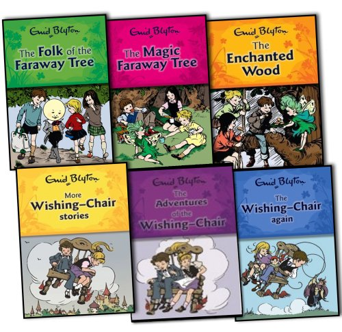 Enid Blyton Wishing Chair and Faraway Tree Series 6 Books Collection Pack Set...