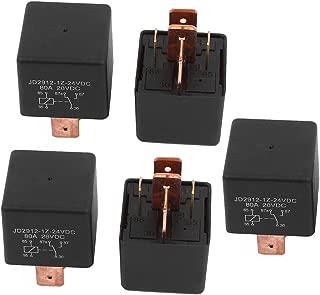 uxcell DC 24V Coil 80A 5 Pins SPDT Car Automotive Alarm Security Power Relay 5pcs