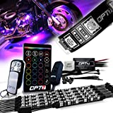 10pc Aura Motorcycle LED Light Kit | Multi-Color Accent Glow Neon Strips w/Switch