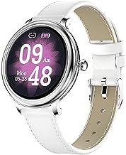 Mode vrouwelijke smart horloge, ronde scherm fitness tracker, geschikt voor meisjes sport horloge, geschikt voor Android e...