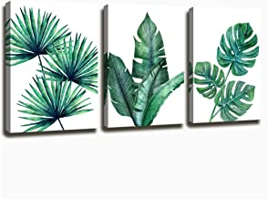 Wall Art Decor Canvas Prints Wall Art Painting Artwork Modern Pictures Framed Ready to Hang 12x16inches*3pcs Green