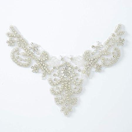 Sparkling Wedding Rhinestones Trim Diamante Pearl Trims Appliques for Dress Sash Garter Bridal Headpieces Applique Crystal Bridal Belt