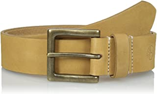 Timberland Men's 38 MM Boot Leather Belt, Wheat, 32