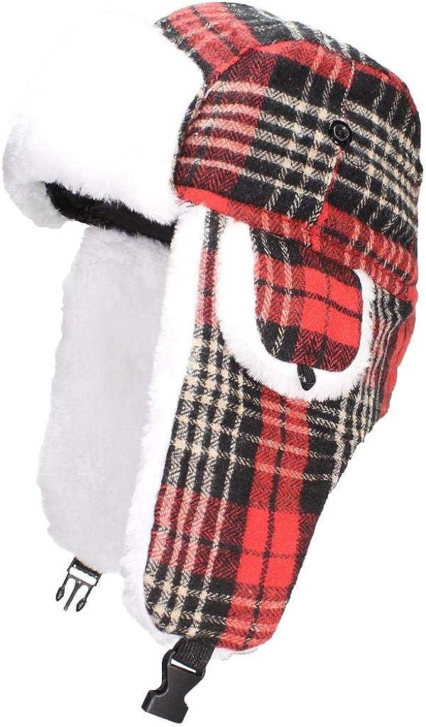 Best Winter Hats Super-cheap Big Kids Quality Russian Plaid Trapper OFFicial store Tartan H