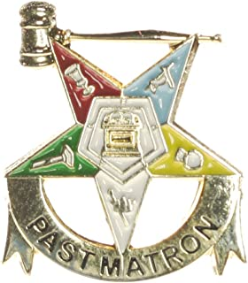 OES Past Matron Eastern Star One Inch Lapel Pin