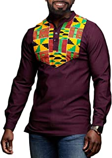 Best african print button up shirt Reviews