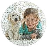 LolaPix Puzzle Redondo Personalizado. Personaliza con tu Foto. Puzzle Cartón Acabado Brillante. Varios tamaños. 200 Piezas