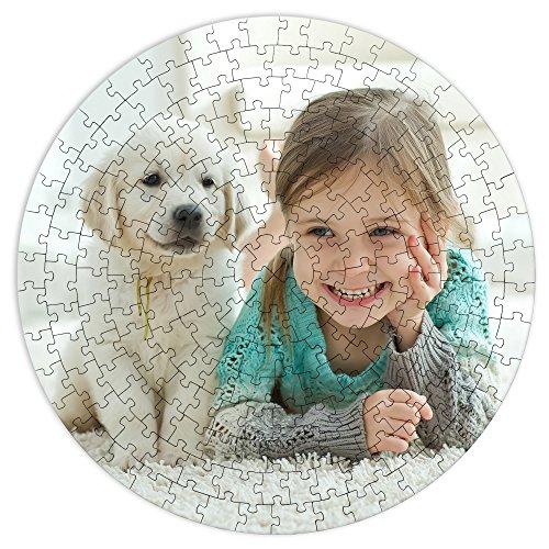 Puzzle Redondo Personalizado. Personaliza con tu Foto. Puzzle Cartón Acabado Brillante. Varios tamaños. 200 Piezas