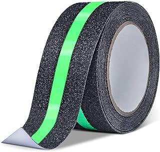 Non Slip Glow in Dark Tape for ramp, self Adhesive, Luminous Traction Grip Tape Gaffer, Anti-Slip Stair Strip(2 inch x 16 ft, Luminous Green)