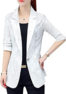 Mogogo Womens Spring/Fall Notch Lapel Relaxed Career Premium Blazer Coat