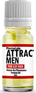 PhermaLabs Pheromones Cologne Scented Oil For Men- 10 ml- Attract Gay Men Instantly- Highest Concentration Of Pheromones Possible- Increases Sex Drive- Fresh & Long-lasting Smell #025