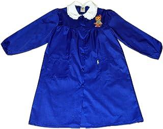 Tutti a Scuola - Grembiule 28-430 per Bambina, Tinta Unita, elementare, con Ricami