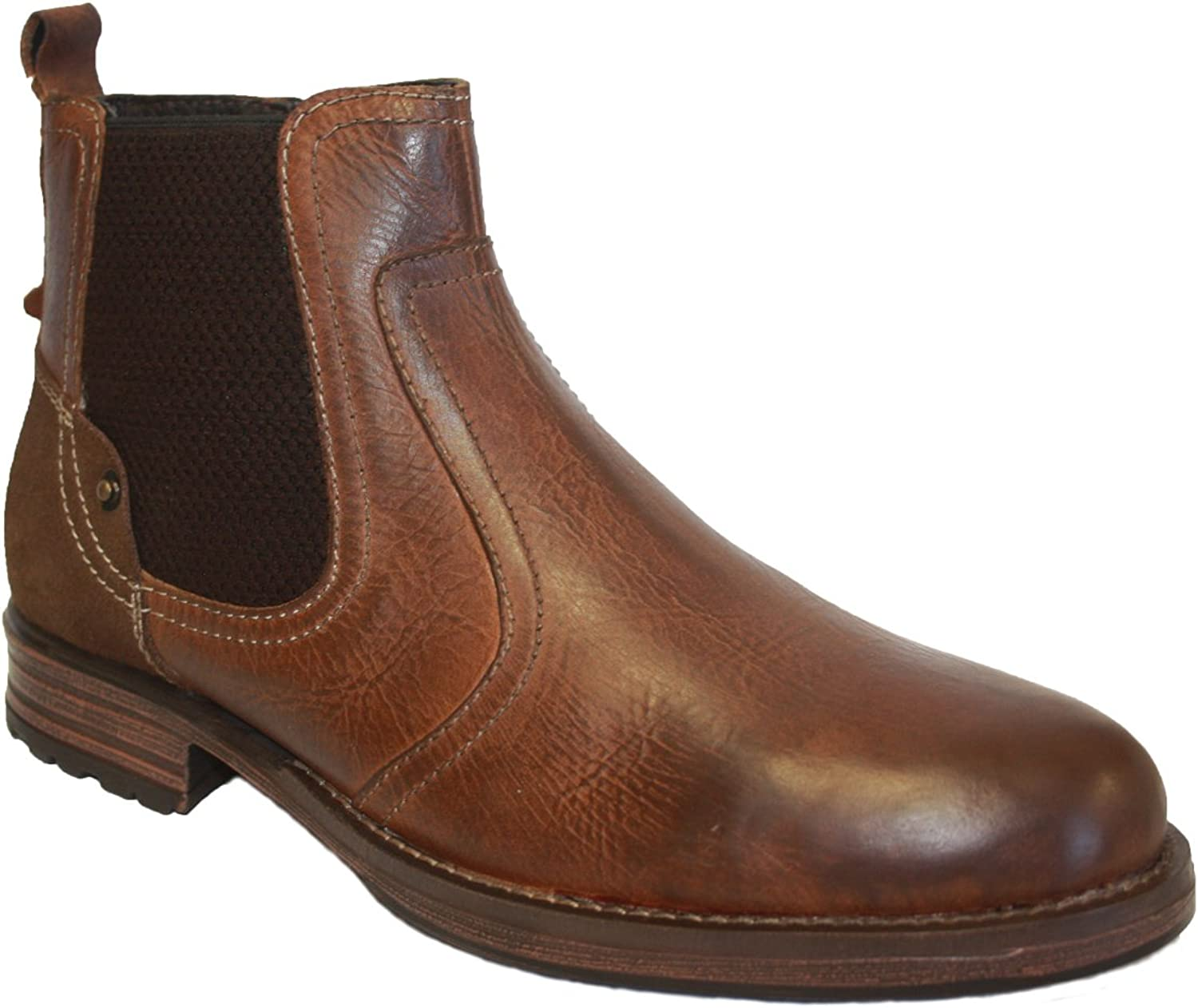 Limited Edition Men's Neptune Leather Chelsea Ankle Boots
