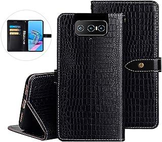 YLYT مقاوم للصدمات - غطاء خلفي أسود من السيليكون TPU الفاخر غطاء محفظة لهاتف Asus Zenfone 7 Pro ZS671KS 6.6 بوصة فتحات بطا...