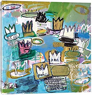 iCanvasART WSL14-1PC3-18x18 iCanvas Les Nympheas de Basquiat (No. 34), 18