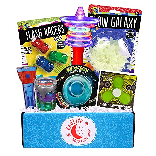 Beyond Bookmarks Radiate - Glow in The Dark Summer Camp Care Package or Birthday Gift for Kids