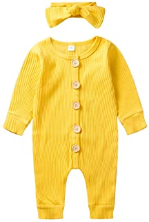 A14UBP Infant Babys Long Sleeve Romper Bodysuit Ireland Unisex Button Playsuit Outfit Clothes