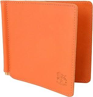 [イルビゾンテ] IL BISONTE イルビゾンテ 財布 C0471 P 166 二つ折り財布 札ばさみ マネークリップ レザー Orange オレンジ系 [並行輸入品]