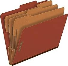 Pendaflex Pressboard Classification File Folders, 3 Dividers, 2