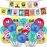 Globos de Bob Esponja para decoración de fiestas, globos de fiesta de cumpleaños para niños, baby shower, cumpleaños