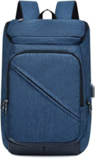 Mochila informal para hombre y mujer, para hombre, con interfaz USB, para la escuela, azul (Azul) - dwfx-2130