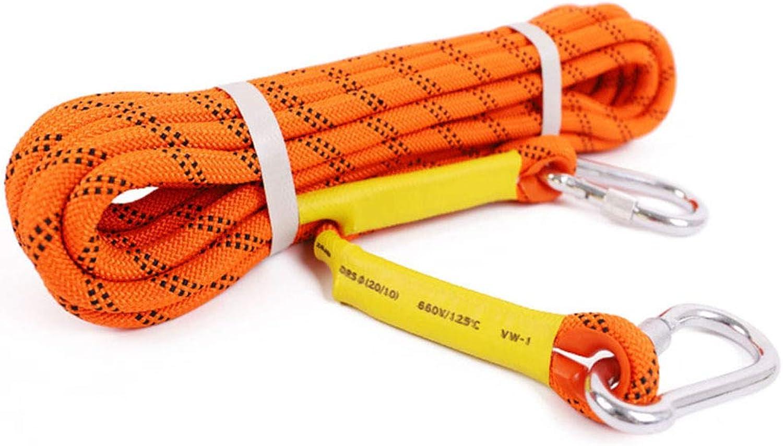 Climbing Rope, Climbing Rope Escape Rope Climbing Equipment, fire Rescue Parachute Rope, Diameter 12mm,10m