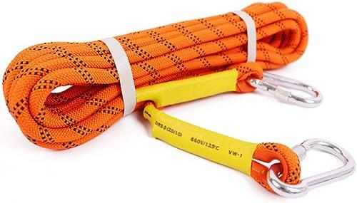 HPDOD Corde d'escalade, Corde d'escalade pour Corde d'escalade, Corde pour Parachute de Secours, diamètre 12 mm,30m