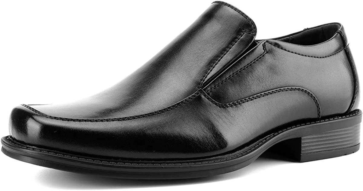Men's Moc Toe Slip-On Loafers Casual Formal Dress Shoes Comfort Cushioned Oxfords